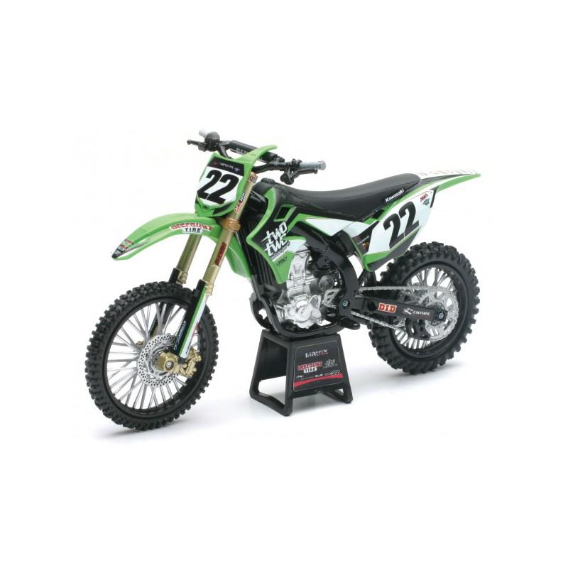 maquette moto cross kawasaki kx450f rch racing team chad reed 1 6 newray. Black Bedroom Furniture Sets. Home Design Ideas