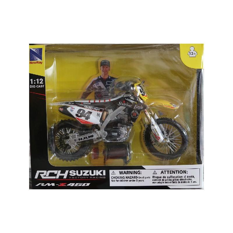 maquette moto cross suzuki 450 rmz rch racing team ken roczen 1 12 newray. Black Bedroom Furniture Sets. Home Design Ideas