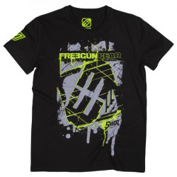 T-SHIRT HOMME FREEGUN SQUARE BY SHOT NOIR TAILLE XL