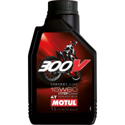 HUILE MOTUL 300V FACTORY LINE OFF ROAD 15W60  4T 100% Synthétique 1 LITRE