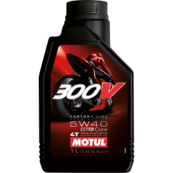 HUILE MOTEUR MOTUL 300V FACTORY LINE OFF ROAD 10W40 4T 100% SYNTHETIC 4 LITRES