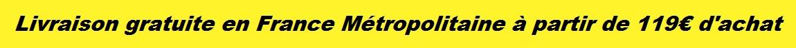livraison gratuite en france metropolitaine a partir de 119euro d'achat